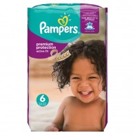 Pampers Premium Protection Active Fit, Veľ. 6, 120 Plienok, 120 kus