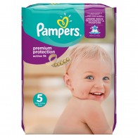 Pampers Premium Protection Active Fit, Veľ. 5, 136 Plienok, 136 kus