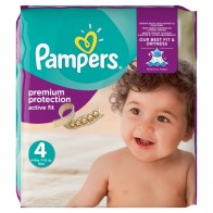 Pampers Premium Protection Active Fit, Veľ. 4, 168 Plienok, 168 kus