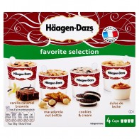 Häagen-Dazs Favorite Selection zmrzlina 4 x, 100 ml