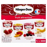 Häagen-Dazs Fruit Attraction zmrzlina 4 x, 100 ml
