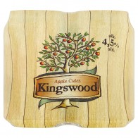 Kingswood Apple cider 4 x, 0.33 L