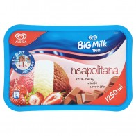 Algida Big Milk Trio Neapolitana, 1250 ml