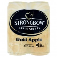 Strongbow Apple ciders gold apple sýtený kvasený jablkový alkoholický nápoj, 400 ml