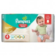 Pampers Pants Premium Care, Veľ. 4, 44 Plienok, 8 - 14 kg, 44 kus