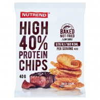 Nutrend High Protein Chips príchuť juicy steak 40 g, 40 g