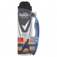 Rexona Men Invisible on Black + White Clothes antiperspirant sprej  + holiaci strojček zadarmo, 150 ml
